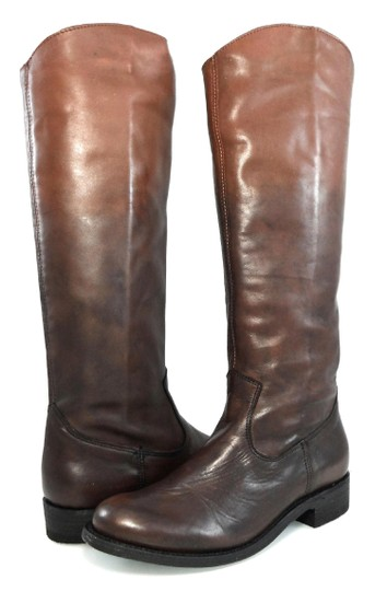 Dolce Vita Knee-high Leather Pull-on Western Brown Gradient Boots Image 1