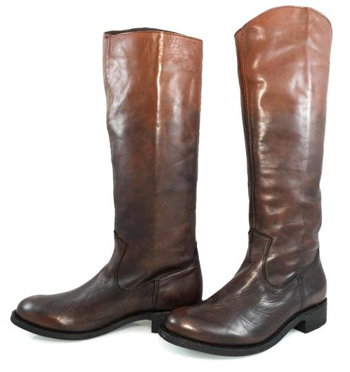 Dolce Vita Knee-high Leather Pull-on Western Brown Gradient Boots Image 2
