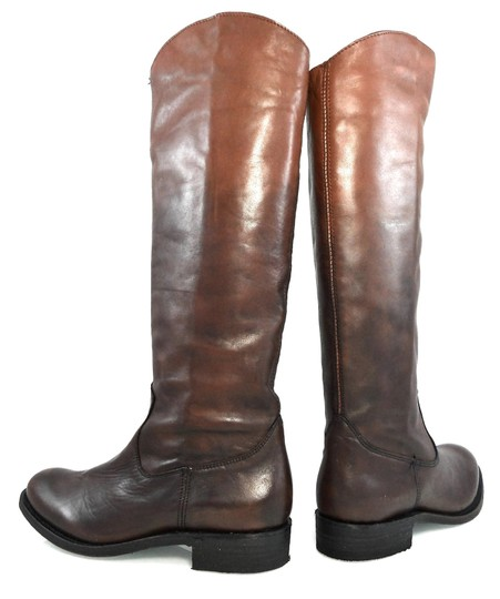 Dolce Vita Knee-high Leather Pull-on Western Brown Gradient Boots Image 3