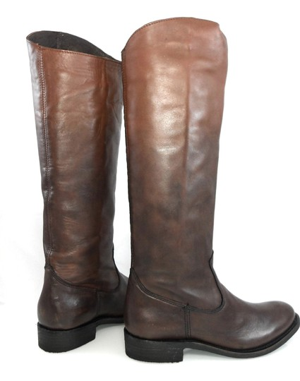 Dolce Vita Knee-high Leather Pull-on Western Brown Gradient Boots Image 4