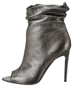 Burberry Burlison Metallic Silver Ankle Anthracite Boots