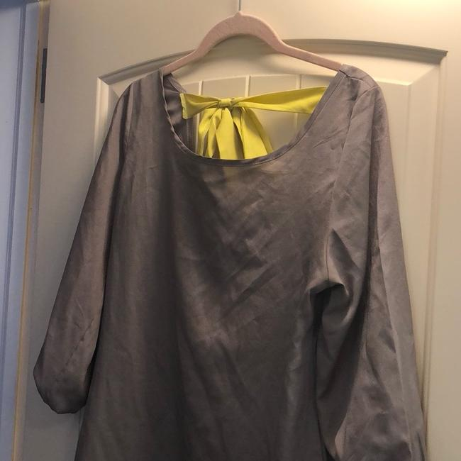 Charming Charlie Top gray and neon yellow Image 1