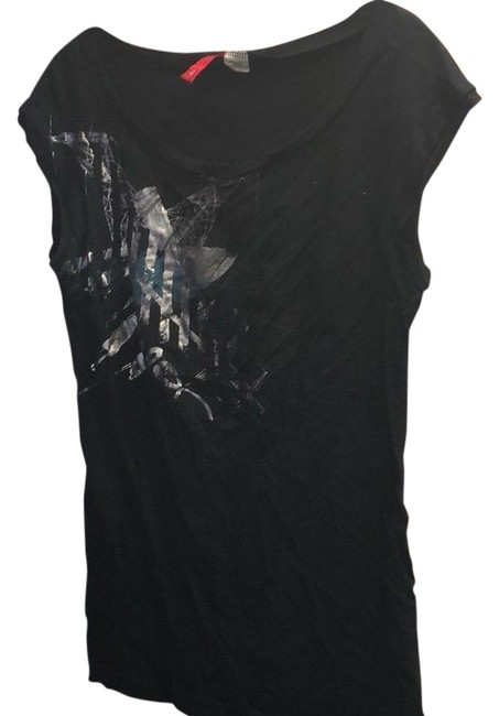 Item - Black Sleeveless Tee Shirt Size 4 (S)
