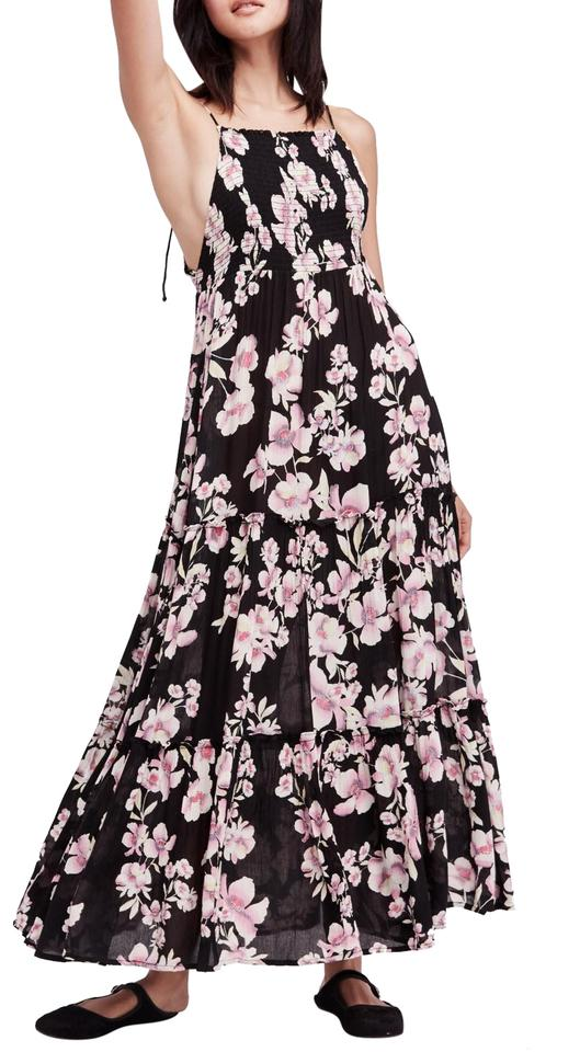 fa1385a422f Free People Black Garden Party Long Casual Maxi Dress Size 6 (S ...