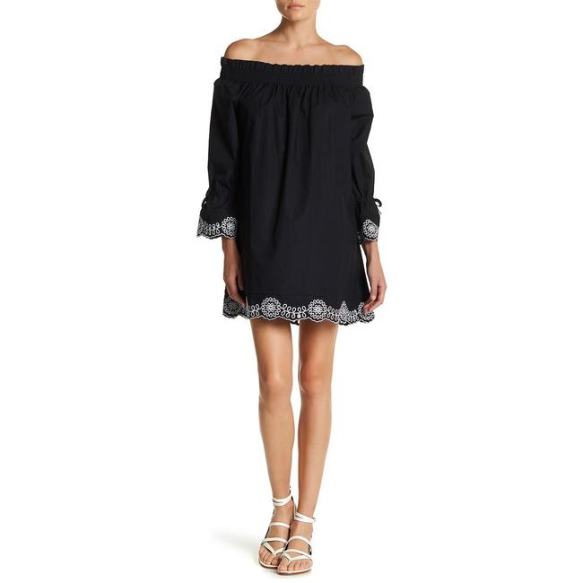 Preload https://img-static.tradesy.com/item/24227001/gracia-black-off-the-shoulder-floral-embroidery-short-casual-dress-size-4-s-0-0-650-650.jpg