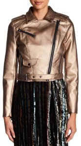 Romeo & Juliet Couture Bronz Leather Jacket