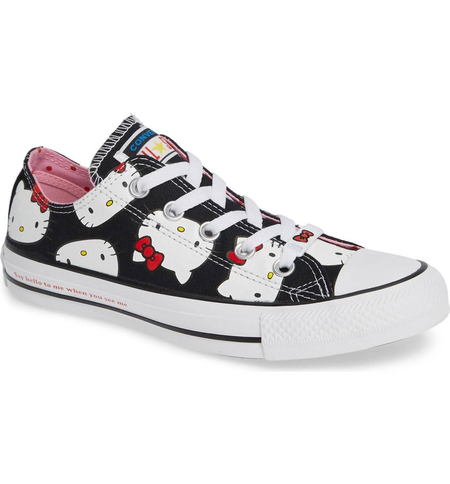 cec14d67a0e658 Converse Hello Kitty Chuck Taylor All Star Low Ox Black Sneakers ...