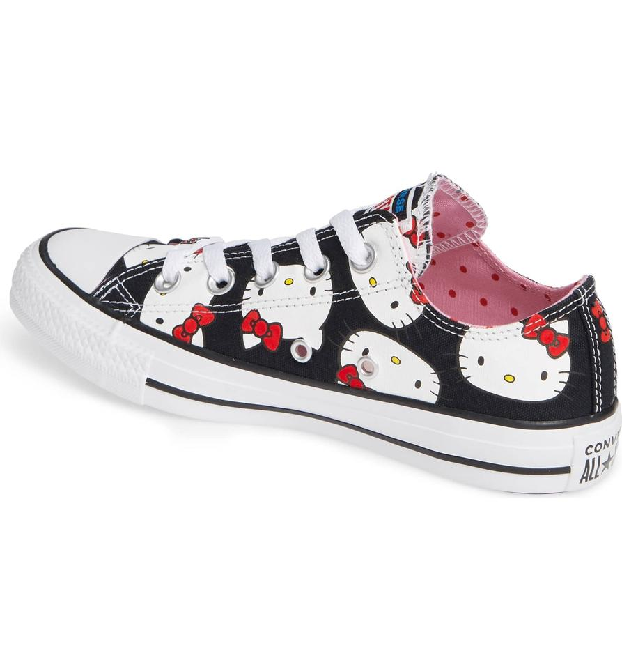 25d8cb802257 Converse Hello Kitty Chuck Taylor All Star Low Ox Black Sneakers ...