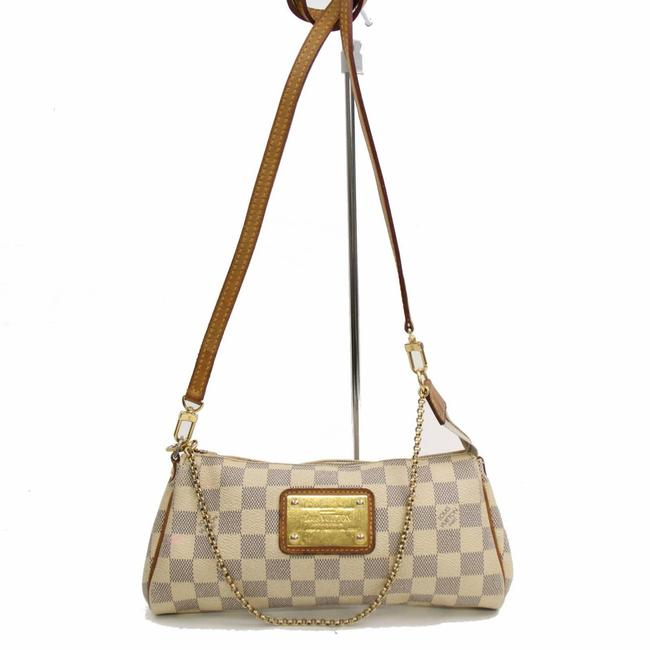 Louis Vuitton Eva Damier Azur 2way 868372 White Coated Canvas Cross Body Bag Louis Vuitton Eva Damier Azur 2way 868372 White Coated Canvas Cross Body Bag Image 1