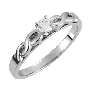 Apples of Gold 1/4 Carat Diamond Infinity Knot Engagement Ring