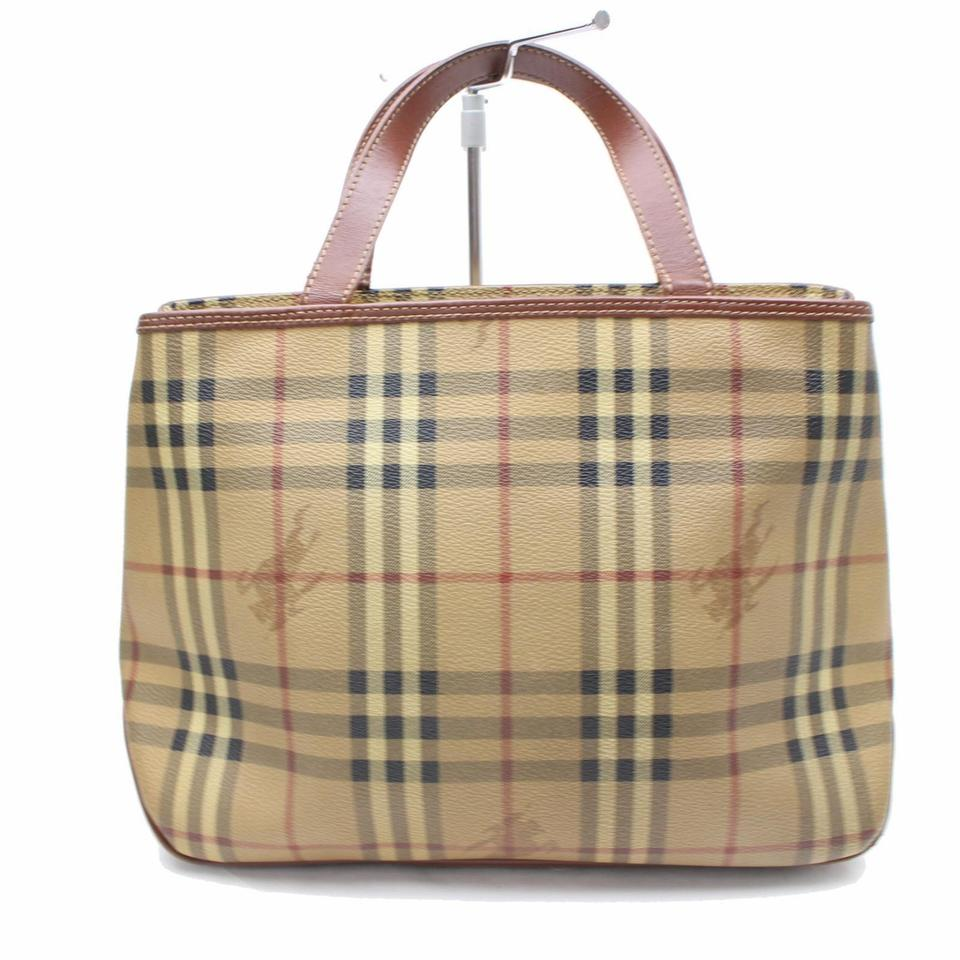 68753366dfa Burberry London Haymarket Novacheck Neverfull Plaid Logo Tote in Brown  Image 0 ...