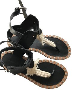 28c053bcbe1d Isabel Marant Gladiator Leather In The Box New Black Sandals