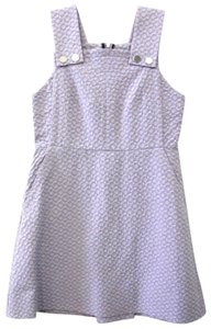 Orla Kiely short dress Purple Lilac Jacquard Jumper Flower Bib on Tradesy
