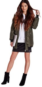 Missguided Bomber Sateen Military Jacket