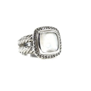 David Yurman David Yurman Sterling Silver 11mm Mother of Pearl Diamond Albion Ring