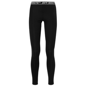 Off-White™ Preforated stretch jersey logo waist band leggings