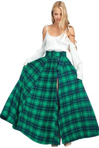TOV Holy Maxi Skirt Green & Blue