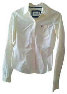Papaya Button Down Shirt Yellow, White