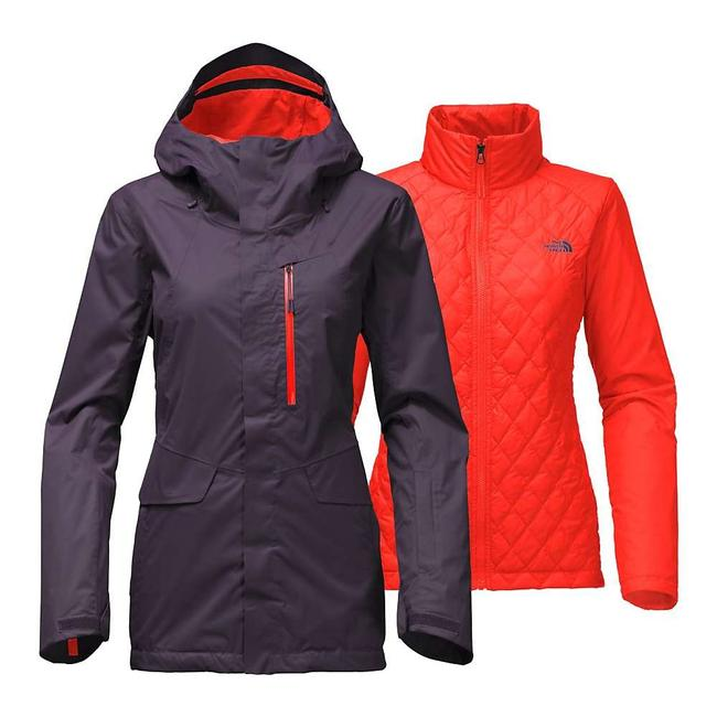 Item - Eggplant / Orange Women's Thermoball Snow Triclimate Jacket Activewear Size 12 (L)