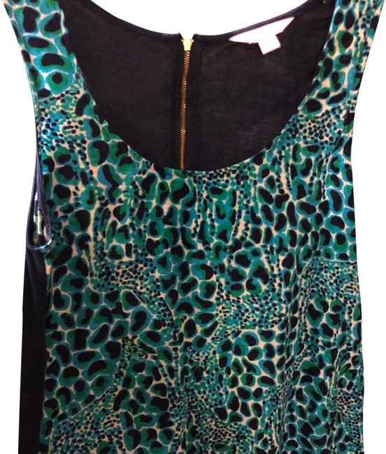 Item - Navy Green and Bright Blue Euc Worn Once Swing Tank Top/Cami Size 6 (S)