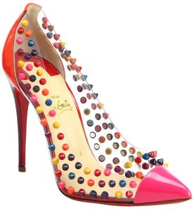 2b19389c838b Christian Louboutin Spike Me 9.5 Studded 39.5 Bille Et Boule Patent Leather  Pvc Multicolor Pink Pumps