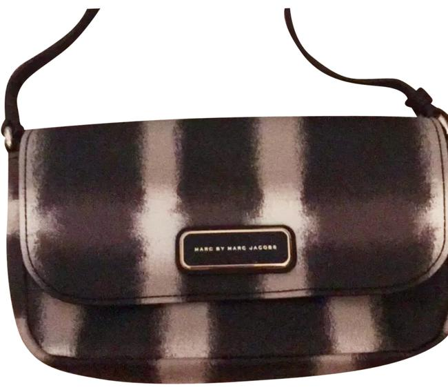 Item - Black Brown Cream and Sliver. Leather Cross Body Bag