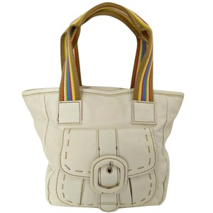 Tommy Hilfiger Retro Small Stripes Colorful Satchel in ivory