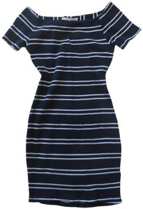 ASTR short dress Navy Blue White on Tradesy