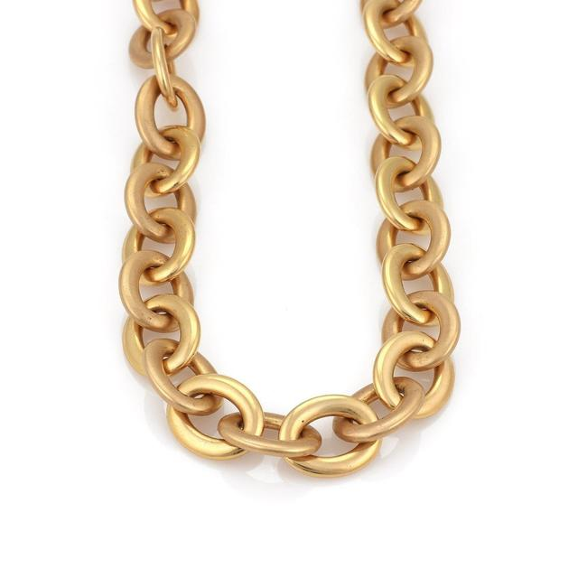 """Roberto Coin #58031 L 18k Pink Gold Large Oval Link Chain Long 160 Grams 39""""L Necklace Roberto Coin #58031 L 18k Pink Gold Large Oval Link Chain Long 160 Grams 39""""L Necklace Image 1"""