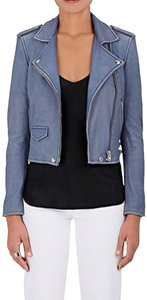 IRO blue Leather Jacket
