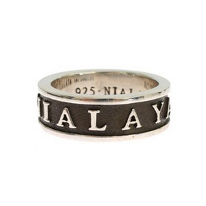 Silver / Black D19129-5 Sterling 925 Ring (Eu 58 / Us 9) Groomsman Gift