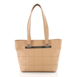 Chanel Leather Tote in tan