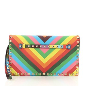 Valentino Leather multicolor Clutch