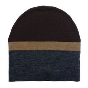 Gucci Brown / Grey Beanie Ski Wool Knit Cap Hat with Signature Leather 353999 2162 Groomsman Gift