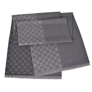 Gucci Grey Wool Reversible Gg Guccissima Scarf 344994 1163 Groomsman Gift