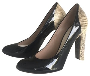 Chloé black patent leather with snakeskin heel Pumps