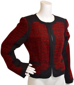 Magaschoni Boucle New Venetian Red/Black Jacket