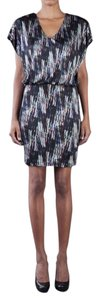 SALONI short dress Multi hued black backround on Tradesy