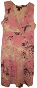 bc9d94421cc4 Calvin Klein short dress Multi-Color Floral Pink Sleeveless V Neck on  Tradesy