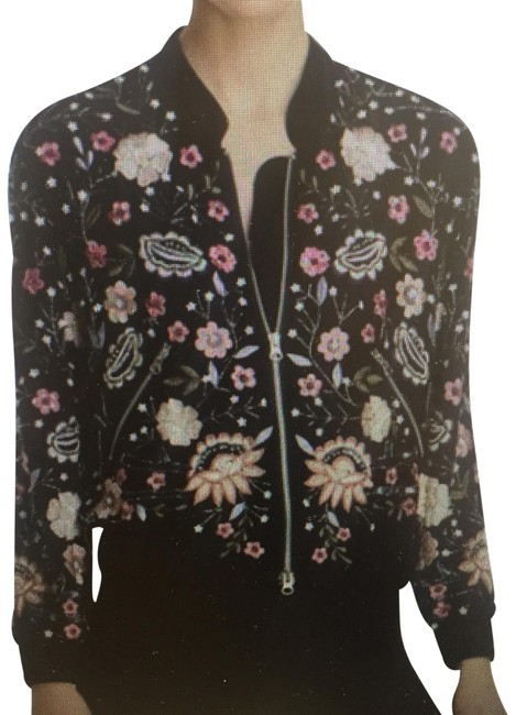 Item - Multicolor Maddie & Tae Embellished Bomber Activewear Outerwear Size 4 (S)