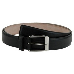 Gucci Black Classic Leather Belt with Silver Buckle 336831 Groomsman Gift