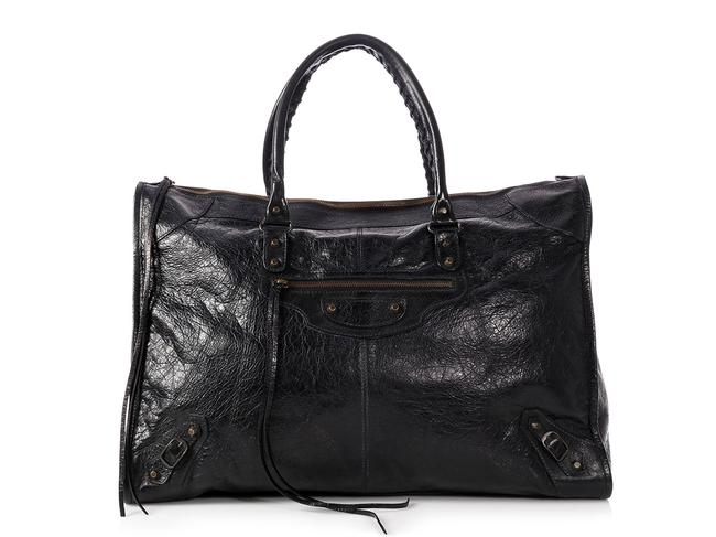 Item - 2014 Agneau Classic Black Lambskin Leather Weekend/Travel Bag