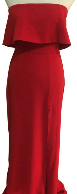 Item - Red Floor Length Gown Long Formal Dress Size 4 (S)