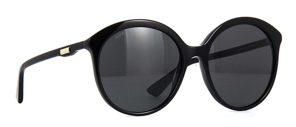 bb29b708d9 Gucci Black Large Rounded Style Gg 0257s 001 - Free 3 Day Shipping ...