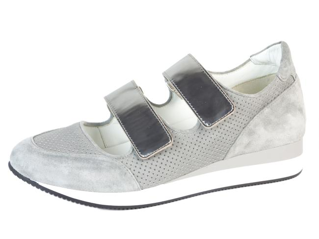 Item - Pearl Grey Mm34 Leather Velcro Sneakers Size US 7 Regular (M, B)