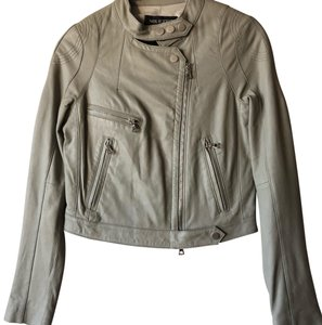 Neil Barrett Light Grey Leather Jacket
