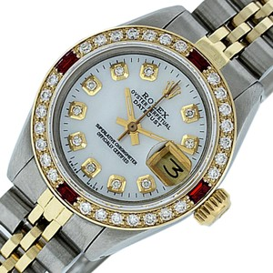 Rolex Rolex Ladies Datejust SS & 18K Yellow Gold with White MOP Diamond Dial