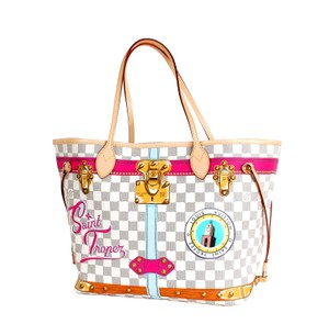 Louis Vuitton Neverfull Cities Saint Tropez Tote in Multi-Color