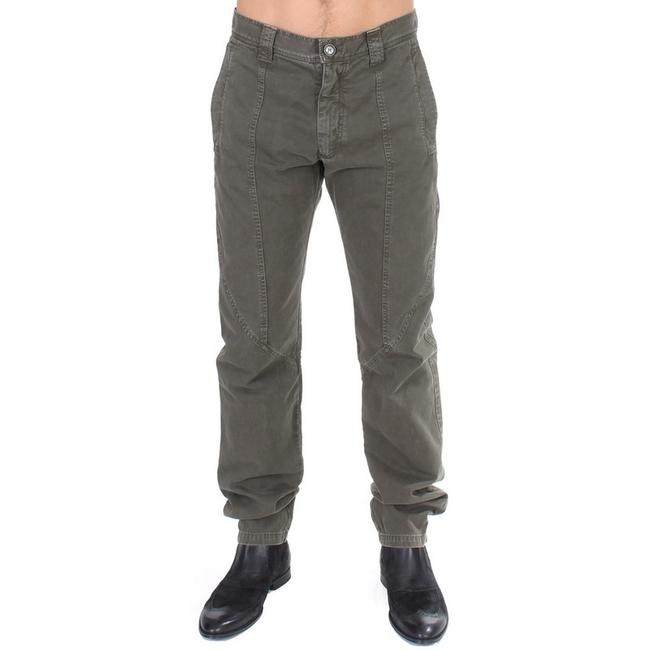 Item - Green D11093-1 Cotton Straight Fit Chinos Pants (It 48 / M) Groomsman Gift