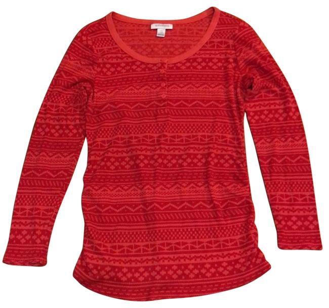 Item - Red and Pink Thermal Maternity Top Size 12 (L)